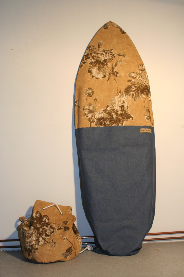 sewnsing denim surfboard bag